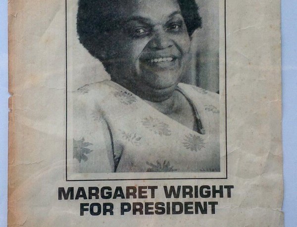 Margaret Wright for President Poster - 1976 Presidential Election