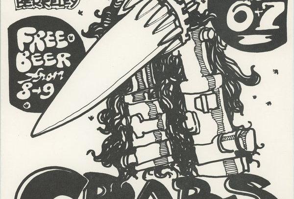 CRABS headlining for Commander Cody - Flyer for 1970 Berkeley show