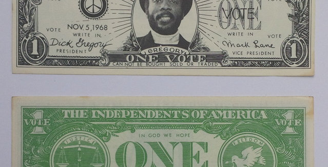 "Dick Gregory for President - ""Dollar"" leaflets - 1968 Presidential Elect"