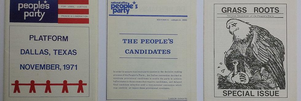 Benjamin Spock - People's Party ephemera - 1972 Presidential Election