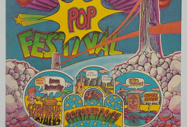 San Francisco International Pop Festival 1968 promo postcard