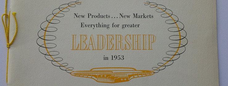 Chevrolet Dealer Convention Brochure for 1953