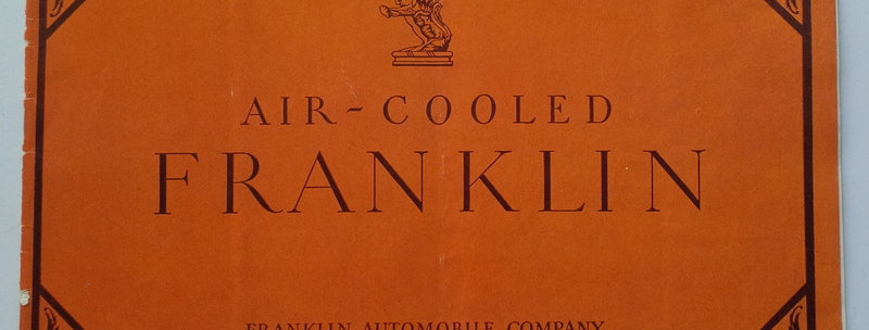 Franklin Automobile Company Sales Brochure for 1927