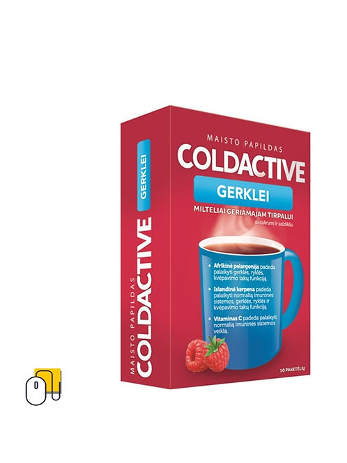 Milteliai geriamajam tirpalui COLDACTIVE N10 10 pak