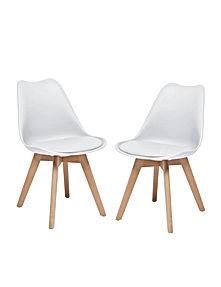 Valgomojo kėdės 2 vnt baltos.jpg