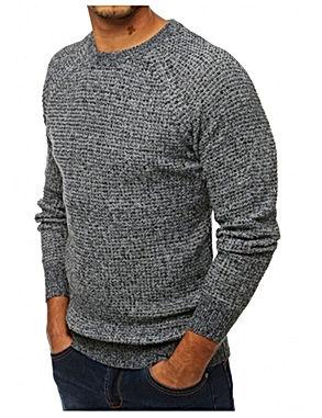 Stilingas vyriškas pilkos spalvos megzti