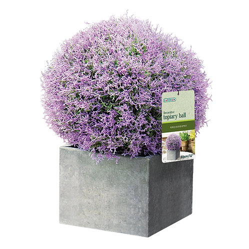 Eden Bloom Artificial Purple Heather Effect Topiary Ball - 30cm