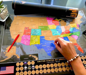 Exactly what is a travel scratch map?