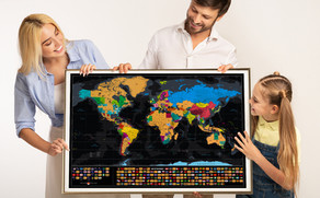 The Best Way to Frame a Scratch Map!