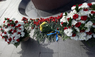 12 квітня українська громада Москви вшанувала пам'ять  славних земляків космонавтів та вчених.