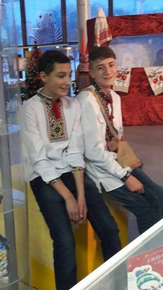 15 січня група наших дітей по вивченню української мови, що на Воробьевих горах приймала участь в св