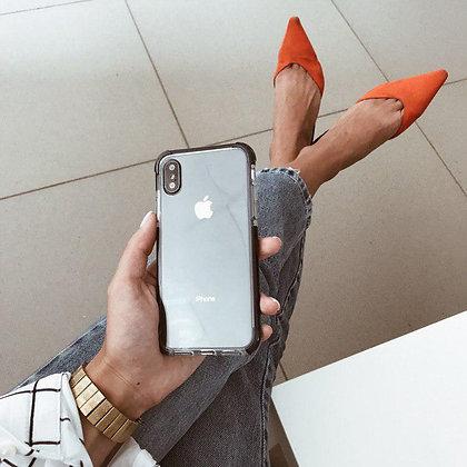 """Силиконовый чехол """"Лёд"""" на iPhone X/Xs (Чёрный)"""