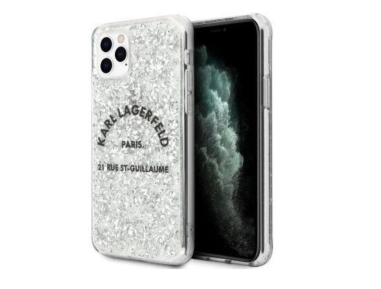Чехол Karl Lagerfeld Liquid glitter Rue Saint Guillaume Hard для iPhone 11 Pro