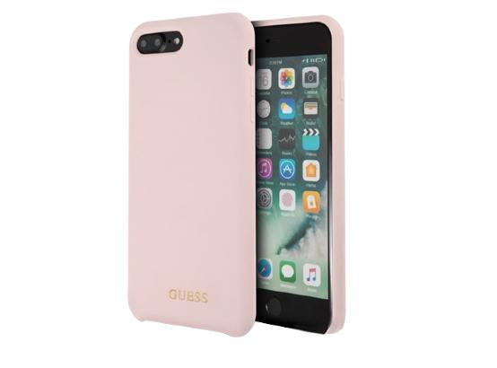 Чехол Guess для iPhone 7 Plus / 8 Plus – Silicone, Pink Sand