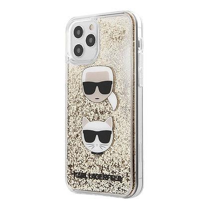 Чехол Karl Lagerfeld glitter Karl and Choupette для iPhone 11 Pro Max, золотой