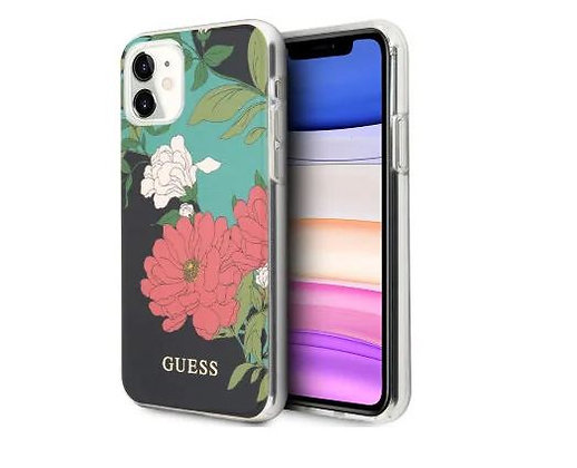 Чехол Guess Flower TPU/PC Hard Shiny N.1 для iPhone 11