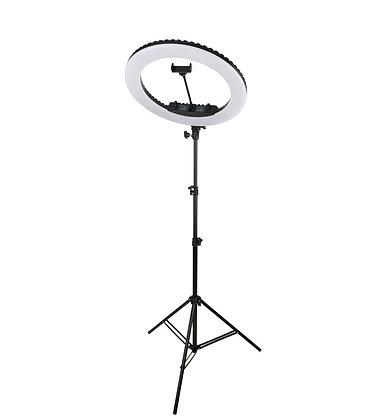 Кольцевая светодиодная лампа 48 см со штативом для профессиональной съемки