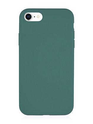 Силиконовой чехол VLP для iPhone SE (2020)/8/7, тёмно-зелёный