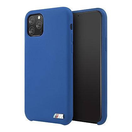 Чехол BMW M-Collection Liquid Silicone для iPhone 11 Pro Max синий