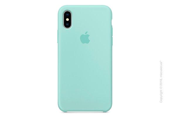 Силиконовый чехол для iPhone XS/X, цвет морской зелёный