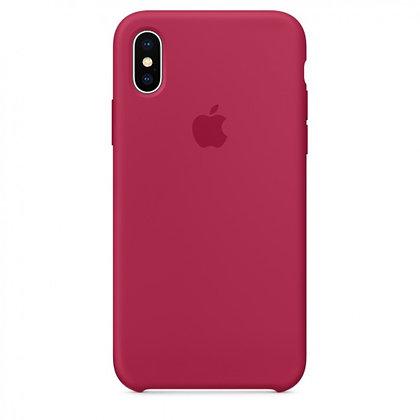 Силиконовый чехол для iPhone XS Max, цвет красная роза