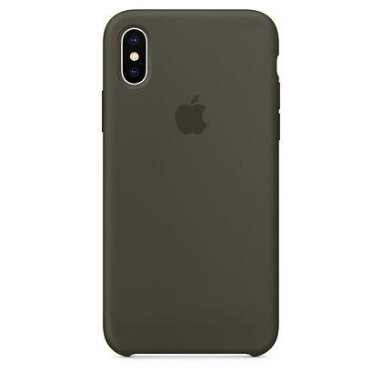 Силиконовый чехол для iPhone XS/X, цвет темно-оливковый