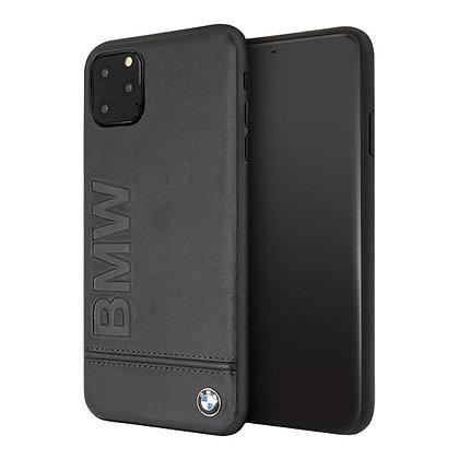 Кожаный чехол BMW Signature Logo imprint Hard для iPhone 11 Pro, черный