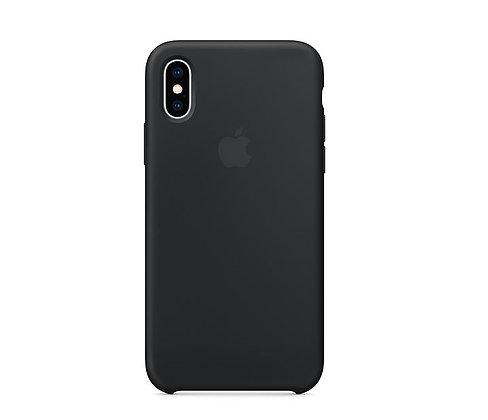 Силиконовый чехол для iPhone XR, чёрный цвет