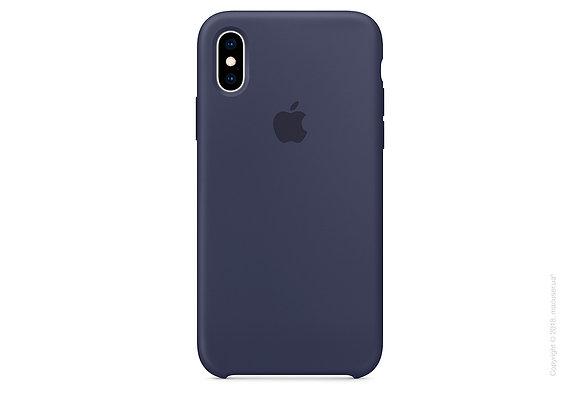 Силиконовый чехол для iPhone XS/X, цвет темно-зеленый