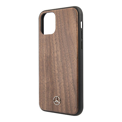 Чехол Mercedes Wood Hard Walnut для iPhone 12 mini, ореховый