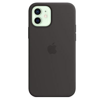 Силиконовый чехол MagSafe для iPhone 12 mini, чёрный цвет
