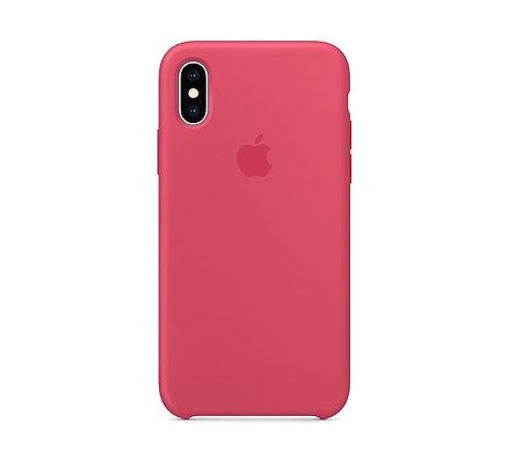 Силиконовый чехол для iPhone XR, цвет «красный каркаде»