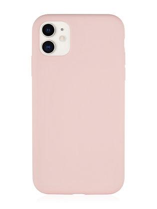 Силиконовой чехол VLP для iPhone 11, нежно-розовый