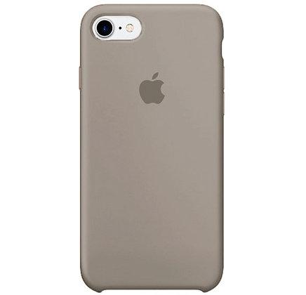 Силиконовый чехол для iPhone 8 / 7, цвет каменный серый