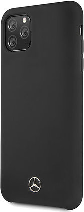 Чехол Mercedes Liquid Silicone line Hard для iPhone 11 Pro чёрный