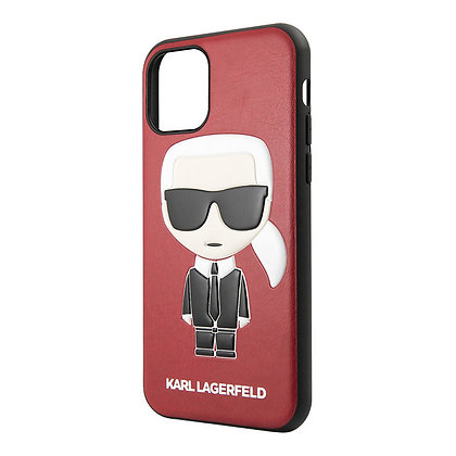 Чехол Karl Lagerfeld PU Leather Iconic Karl Hard для iPhone 11, красный