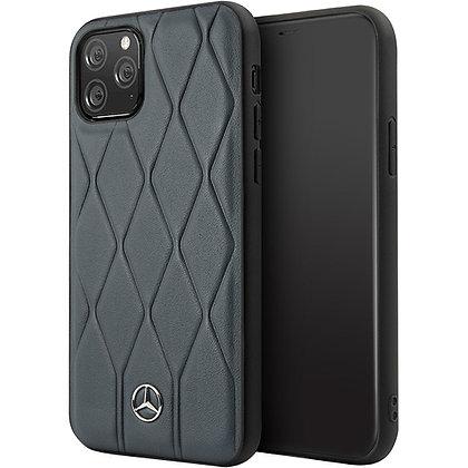 Чехол Mercedes Wave Quilted Hard Leather для iPhone 11 Pro синий