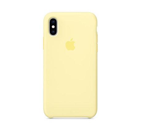 Силиконовый чехол для iPhone XR, цвет «лимонный крем»