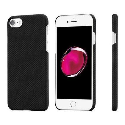 Чехол PITAKA MagCase для iPhone 7/8 чёрный карбон (Plain)
