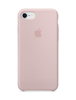 Силиконовый чехол для iPhone 8/7, цвет «розовый песок»