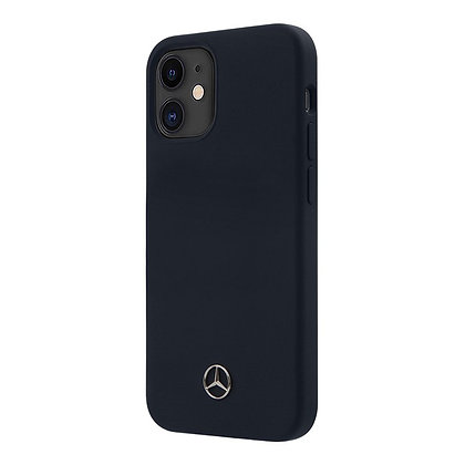 Чехол Mercedes Liquid Silicone Hard для iPhone 12 / 12 Pro, синий