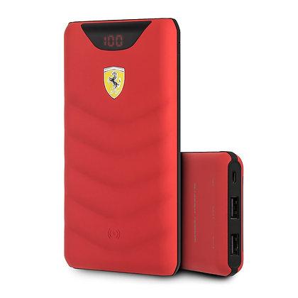 Внешний аккумулятор с функцией БЗУ Ferrari Red Rubber 10000 мАч, красный