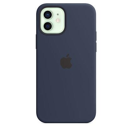 Силиконовый чехол MagSafe для iPhone 12 mini, цвет «тёмный ультрамарин»