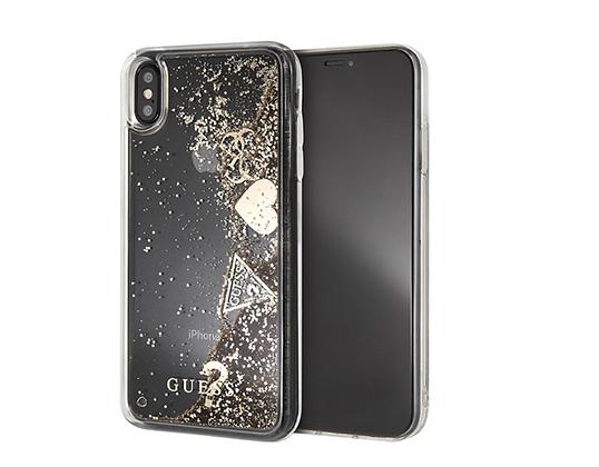 Чехол Guess Glitter для iPhone XS Max, золотой