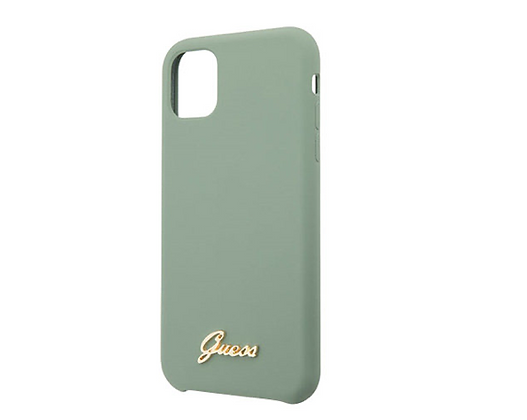 Чехол Guess Silicone collection Vintage logo для iPhone 11 Pro, зеленый