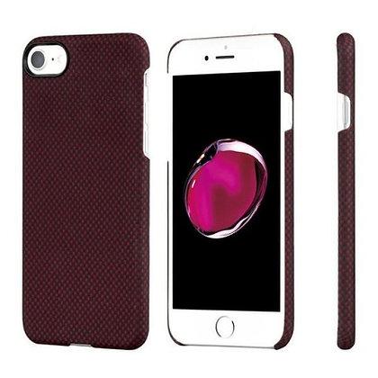 Чехол PITAKA MagCase для iPhone 7/8 бордовый карбон (Plain)