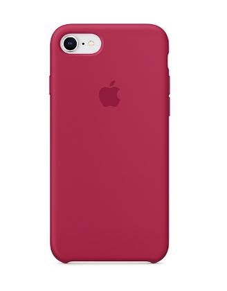 Силиконовый чехол для iPhone 8/7, цвет «красная роза»