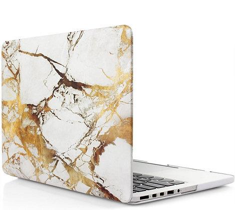 """Матовый чехол HardShell Case для Macbook Pro 13"""" золотистый мрамор"""