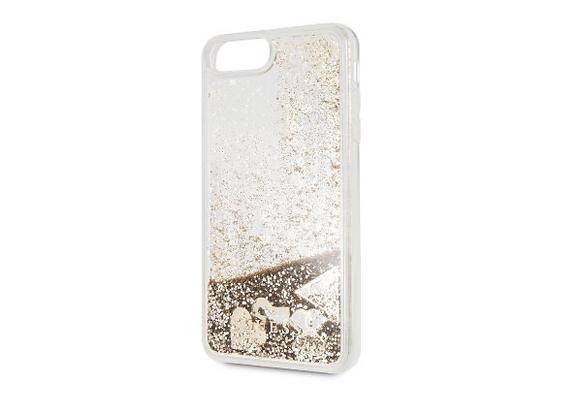 Чехол Guess Glitter Hard для iPhone 7 / 8, золотой