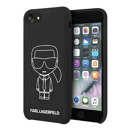 Чехол Karl Lagerfeld Liquid silicone Ikonik outlines для iPhone 7/8/SE 2020